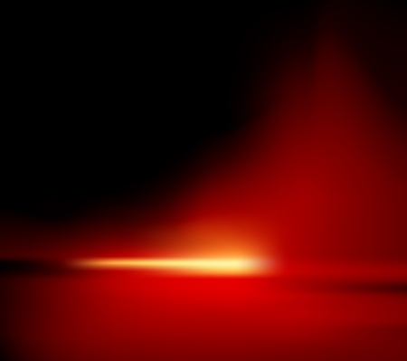 refraction of light: Abstract background - red horizon with glowing sunlight - also suitable for Christmas designs