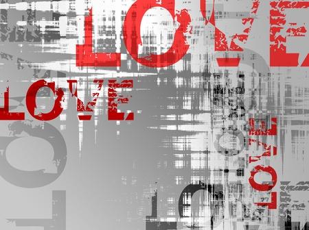 Liebe Hintergrund - Vektor-Illustration Vektorgrafik