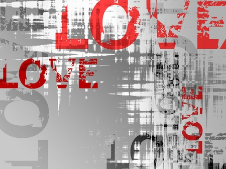 grafitti: Love background - vector illustration