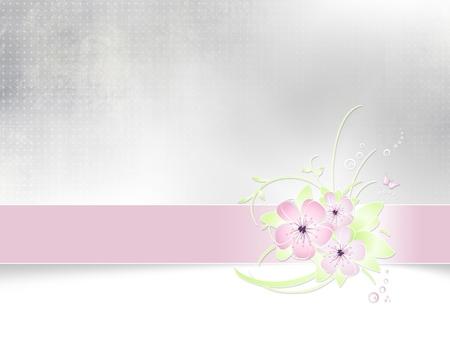 꽃 배경 추상 봄 카드 디자인