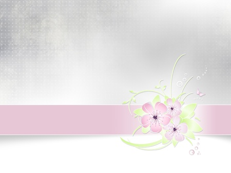 Flower background abstract spring card design Stock Photo - 12604309