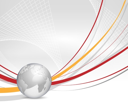 business asia: Abstract business background with globe and lines