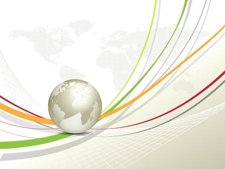 �conomie verte: Globe and carte du monde - fond commerce mondial