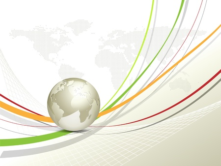 hospedagem: Globo e mapa do mundo - fundo global de negócios