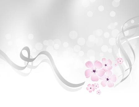 白い花の灰色 - 抽象的なロマンチックなグリーティング カード テンプレート - 愛、春、美しさ、誕生日、結婚式、バレンタインの設計に適したグラ