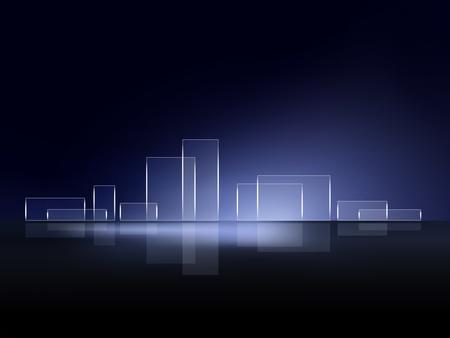 футуристический: Абстрактный фон горизонта города