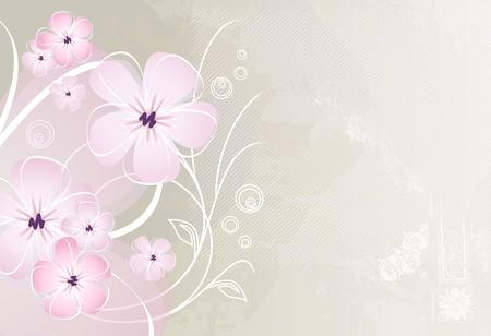 bordures fleurs: R�sum� design vintage fleur fond