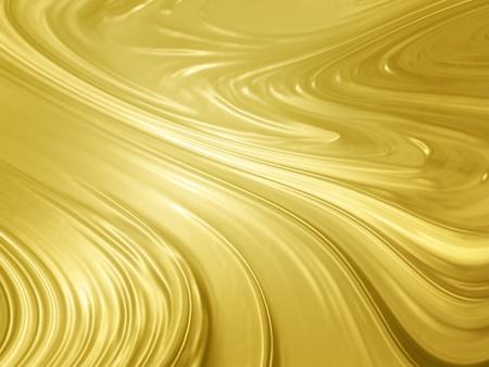 Abstract gold background - liquid golden metal texture Imagens