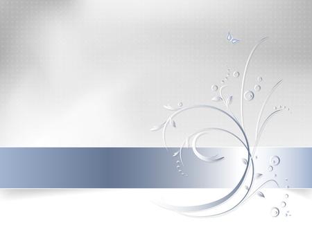 꽃 배경 - 추상 봄 패턴 일러스트