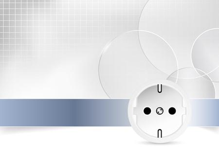Energie-und Stromsteuer Hintergrund Illustration