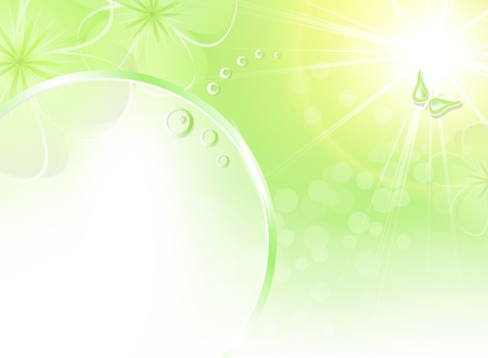Abstract spring background green Stock Vector - 12797376