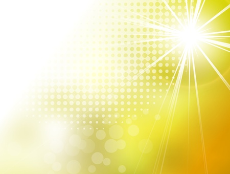 추상 노란색 배경 태양 버스트 일러스트