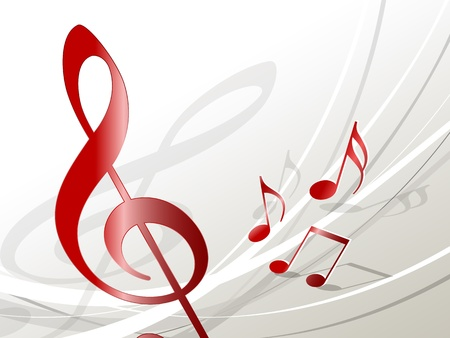 treble clef: Music background
