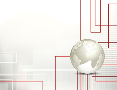 Abstract technology background with globe Ilustrace