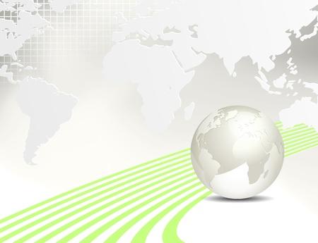 Globe and world map - globales Geschäft Hintergrund Illustration