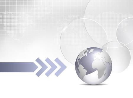 http: Globe and world map - globales Gesch�ft Hintergrund Illustration