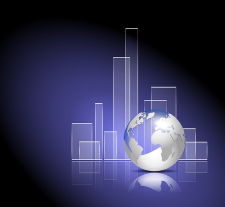Finance graph - global business template Vetores