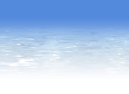 sky dive: Water background Illustration