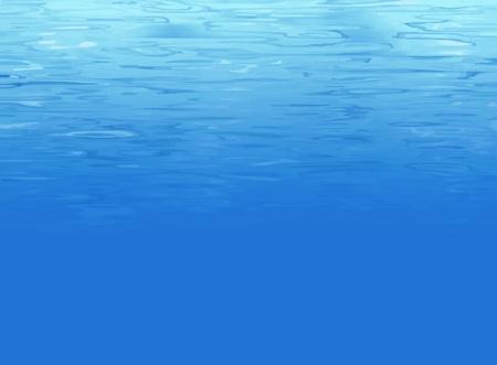 Water background underwater Ilustração