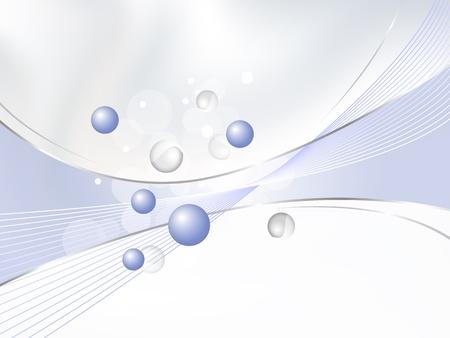 의료, 화학, 화장품 및 뷰티 디자인 서식 파일 - 흰색에 그라데이션 추상 파란색 배경