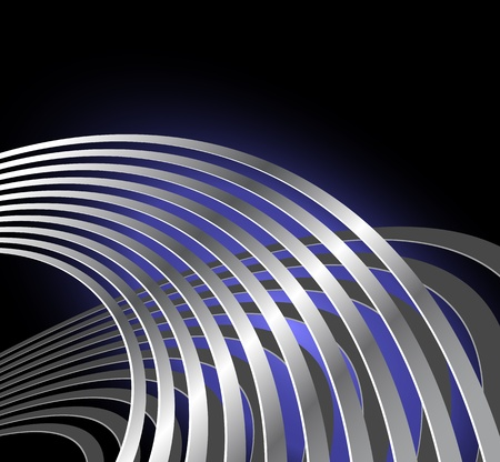 Abstract radio wave background with curved lines - musical vibration - sound waves Vector