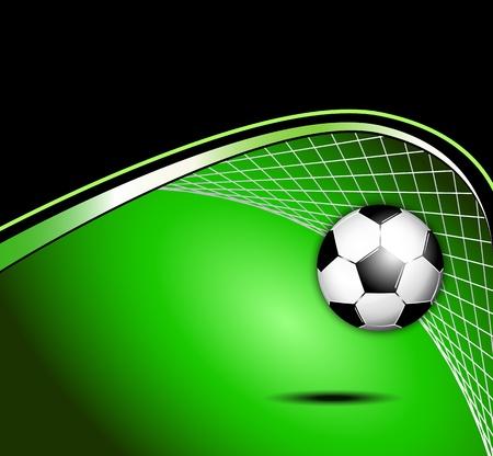 campeonato de futbol: Bal�n de f�tbol de fondo Vectores