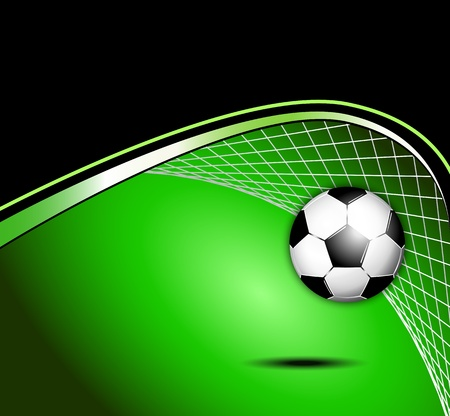 goal kick: Soccer ball background
