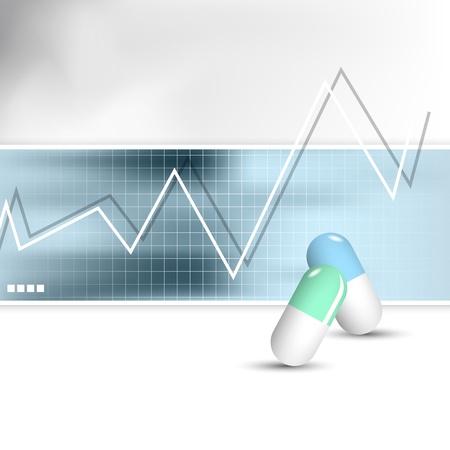 Medizinischer Hintergrund abstrakte Gesundheitswesen Design Illustration