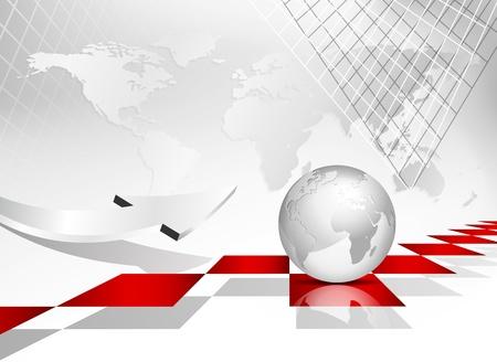 Globale Weltkarte Hintergrund Globus Illustration