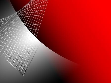 Gümüş gri metal ile kırmızı arka plan