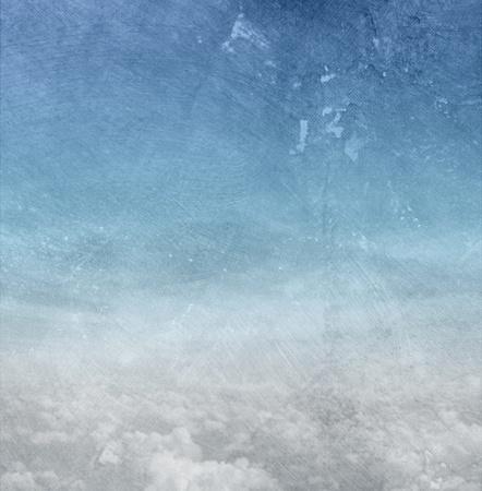 추상 파란색 배경 종이 텍스처 - 하늘과 구름