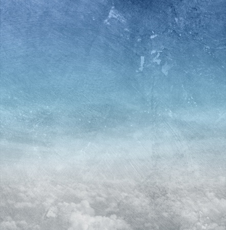 Abstract blue background paper texture - sky and clouds photo