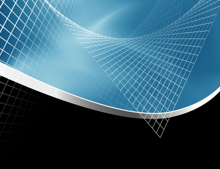 corporate image: Abstract background blue black Illustration