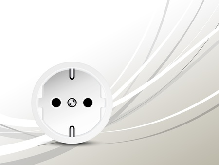 Energieconcept - socket - outlet Stock Illustratie