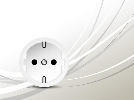 electric grid: Energy concept - socket - outlet
