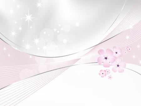 Bloem achtergrond - wit en roze bloemdessin