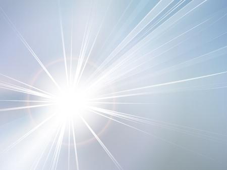 starbursts: Cielo azul y sol de fondo abstracto