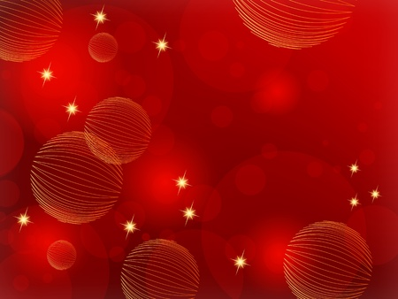 red sphere: Red Christmas background abstract