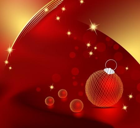 빨간 크리스마스 배경