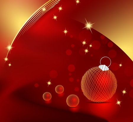 Red Christmas background Stock Vector - 15577817