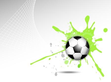 pelota de voley: Bal�n de f�tbol de fondo Vectores