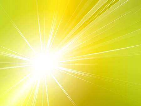 Light starburst background - abstract sun and rays Vector
