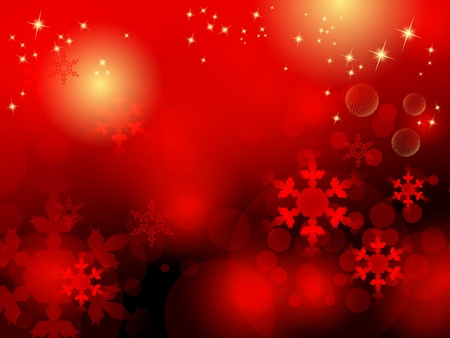 solemn: Red abstract Christmas background Illustration