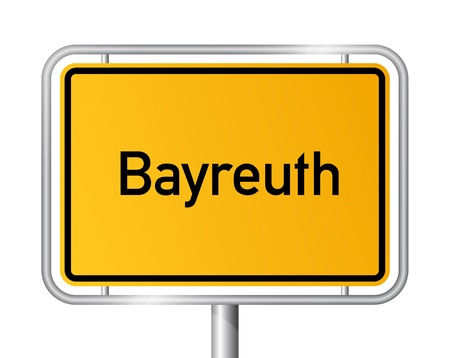 City limit sign Bayreuth against white background - signage - Bavaria, Bayern, Germany Stock Vector - 17897970