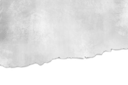 찢어진 된 종이 질감 - 빛 추상적 인 배경 회색 흰색