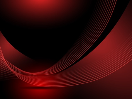 shiny black: Abstract red background lines Illustration