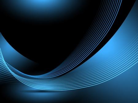 Zusammenfassung blauem Hintergrund Linien Standard-Bild - 17901049