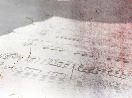 Vintage sheet music background notes