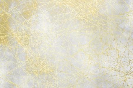 gray thread: Grey background texture - silver grunge design with golden pattern Stock Photo