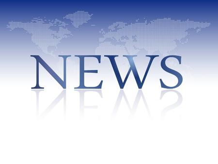 Brekend nieuws - nieuwsbrief template met wereldkaart achtergrond